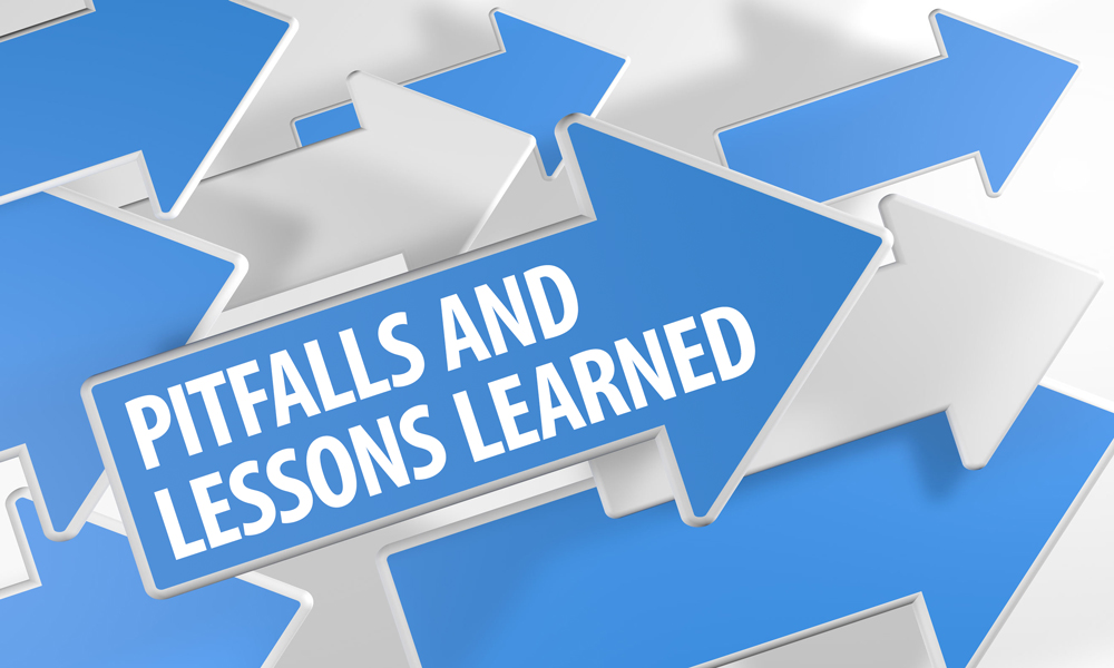 pitfalls and lessons learned feature